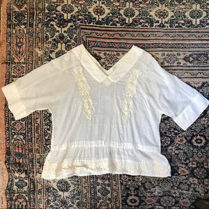 Polo Ralph Lauren White Cotton Peasant Blouse
